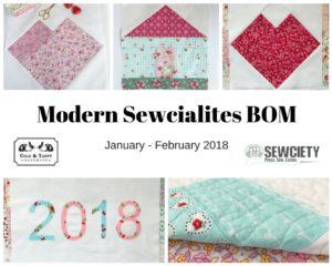 Modern Sewcialites BOM wrapup - Cole and Taffy
