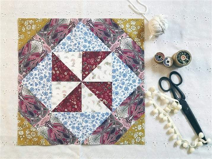 Modern Sewcialites BOM - Southern Charm Quilts - April block