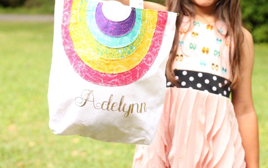 Cricut Maker – Personalized Rainbow Bag Project
