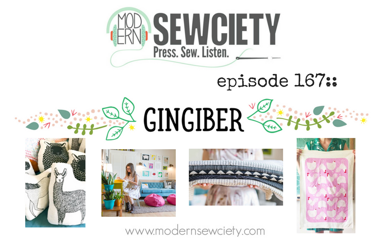 MS episode 167: Stacie Bloomfield of Gingiber, Moda Fabric Designer, and Creative Entrepreneurs