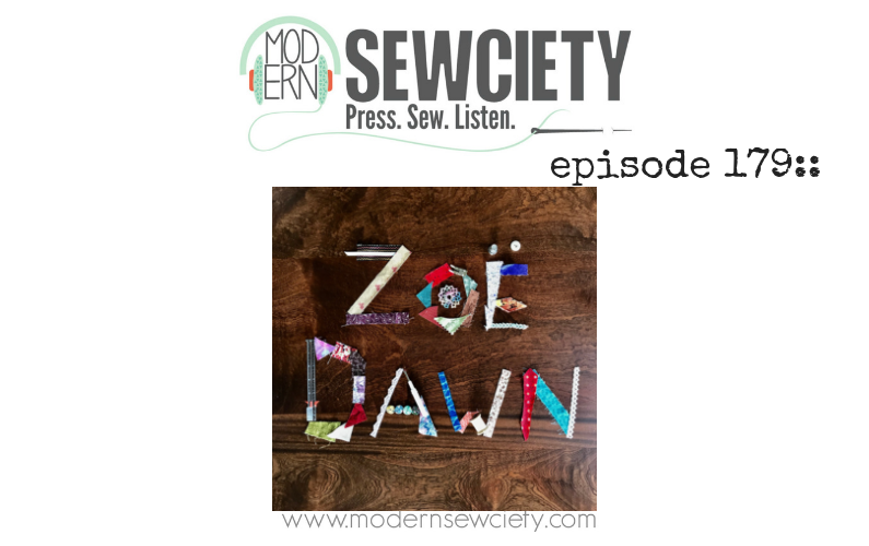 MS episode 179: Zoe Baer Rohrer from Zoe Dawn Shop. Sewing with recycled and thrifted fabrics.