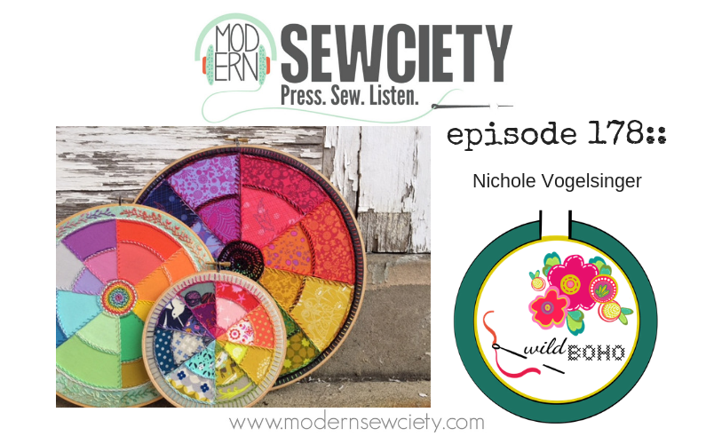 MS episode 178: Nichole Vogelsinger from wildboho. Author of Boho Embroidery and Boho Embroidery: The Pattern Collection