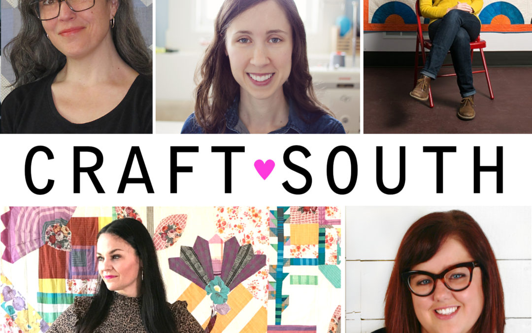 MS episode 207: LIVE Modcast from CraftSouth, Saturday Part 2 featuring Carolyn Friedlander and Tula Pink